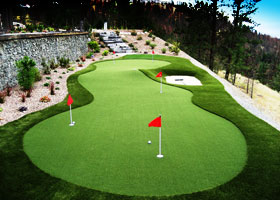 image of custom putting green by synlawn golf Edmond